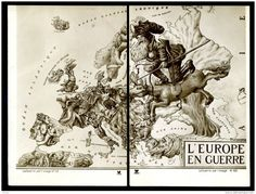 [Map] Caricature map of Europe at War (1914) [1551×1180]