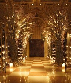 Bringing the woodlands indoors with this magnificent wedding decor #wedding #reception #woodland #candles #weddingvenue