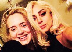 Lady Gaga and Adele