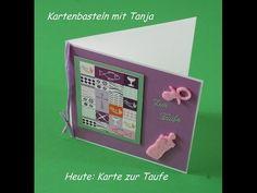 Video-Tutorial: Karte zur Taufe / Konfirmation / Kommunion basteln für Mädchen card #12/2014
