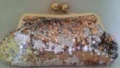 Clutch Purse handbag Sequin gold/silver