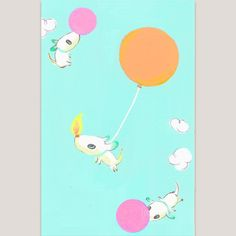 JoEMintbus — #drawsomething If you see me…(src38) #sky #balloon...