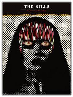 The Kills - gig poster