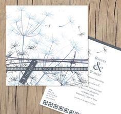 Dandelion days, lilykiss wedding invitations