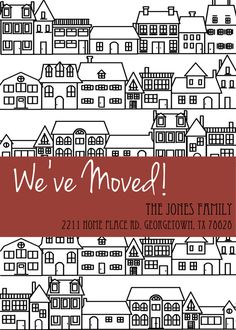 Moving Announcement by InvitationToForth on Etsy