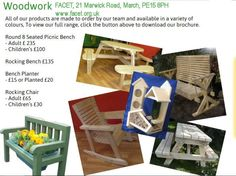 FACET THE CHARITY WHICH TEACHES THOSE YOUNG ADULTS IN CAMBRIDGESHIRE WHO HAVE LEARNING OR OTHER DISABILITIES. STUDENTS PRODUCE HAND MADE WOODEN ITEMS FOR THE HOME OR GARDEN. THESE HELP TO RAISE FUNDS FOR OUR CHARITY