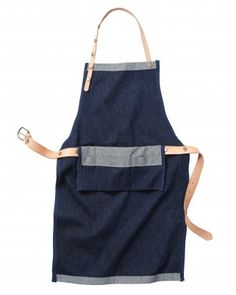Apron-A durable denim-and-leather apron for the gardener or flower designer in your life. www.marthastewart.com