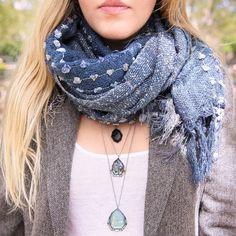 Rue Royale Blue Knit Scarf | Chloe + Isabel www.chloeandisabel.com/boutique/jenniferapril