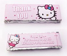 Personalised Party Chocolate wrappers