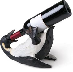 penquin wine bottle holder | SOMETHING AMAZING: 20 Funny Wine Bottle Holders