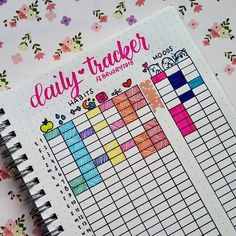keeping track of my habits and moods with this daily tracker on my bullet journal #bulletjournalling #dailytracker #doodle #bujo