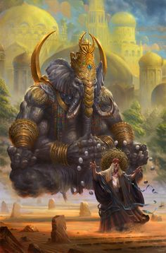 Concept art : Lord Ganesh (don't know the artist. If you know tag tem) Digital Art Illustration, Illustration Fashion, Creative Illustration, Illustration Artists, Fashion Illustrations, Indian Gods, Art Graphique, Gods And Goddesses, Character Art
