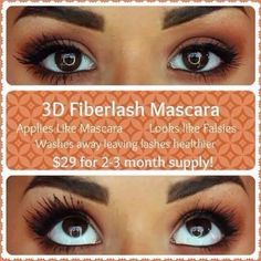 Wow wow wow!!! 3D fiber mascara vs ordinary mascara!! 2-3 month supply hypoallergenic cruelty free and fabulous results why wouldn't you want lashes like this?