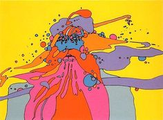 """Skot Foreman Gallery (vintage) Peter Max """"Knowledge Bliss Absolute"""" 1971 Hand-signed color screenprint on heavy, cream wove Arches paper 22 x 30 in 56 x 76 cm Limited-edition of 100 Hand-signed """"Zen Max '71"""""""