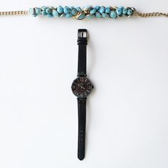 | Anne Klein | Black Statement Watch  Authentic Perfect Condition Elegant and chic design ✓ Waterproof ✓ Genuine Leather ✓ Stainless Steel ✓ No Scratch at all ✓ Needs battery change  ✓ Does not come with original box    ⇸ m y  c l o s e t ⇷ ✓ i accept all reasonable offers  ✓ make me an offer ♥ × no trade × no paypal Anne Klein Accessories Watches
