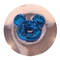 "Jae Yong Kim ""Donut You Love My Blue Teddy Bear"", 2016, Ceramic and chrome plating 10 x 10 x 2.5 in / 25.4 x 25.4 x 6.4 cm  Edition of 30, Courtesy of Lyons Wier Gallery, New York"