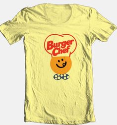Burger-Chef-T-shirt-cool-retro-80s-fast-food-foodie-100-cotton-graphic-tee