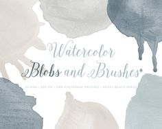 Watercolor blob Splash PS Brushes by By Lef on @creativemarket