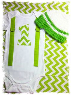 My First Birthday Boys Birthday Onesie with Matching Beanie-Boys Chevron Birthday Set-Boys1st Birthday via Etsy