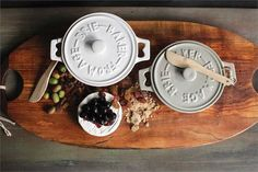To bake brie, if you want to invest 50.00 ...Round Stoneware Brie Baker With Wood Spreader (Set of 2)