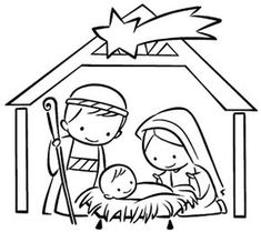 Christmas Nativity Scene, Christmas Art, Christmas Projects, Diy Nativity, Christmas Service, Christmas Carnival, Nativity Coloring Pages, Colouring Pages, Coloring Books