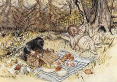 The Wind in The Willows by Kenneth Grahame illustrated by Arthur Rackham