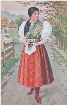 Lidové kroje - Infofila.cz - Formát pro tisk - Filatelie, poštovní známky, známka, magazín o filatelii - Infofila.cz Bohemian Costume, Folk Costume, Costumes, Traditional Dresses, Lace Skirt, Shawl, Hipster, Culture, How To Wear