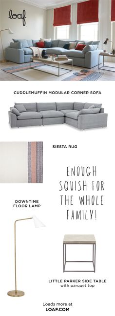 Build an enormous corner sofa to suit your space, then Cuddlemuffin up with a pint-sized cuppa. It's guaranteed to complete your Sunday and torpedo your 'To Do' list. Enough squish for the whole family, if you ask us! Modular Corner Sofa, Modular Sofa, Medan, Sofa Layout, Hm Home, Open Plan Kitchen, Coin, Your Space, Living Room Decor