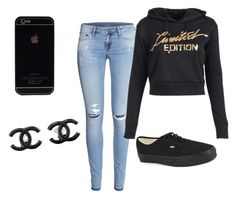 """""""Untitled #380"""" by riah-xo ❤ liked on Polyvore featuring H&M, Vans and Chanel"""