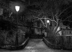 Back Street in Night by William-D-WILD
