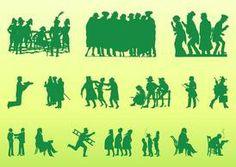 Vintage-people-silhouettes