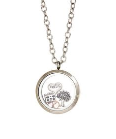Loving this Pink & Stainless Steel Family Locket With Crystals From SWAROVSKI on #zulily! #zulilyfinds
