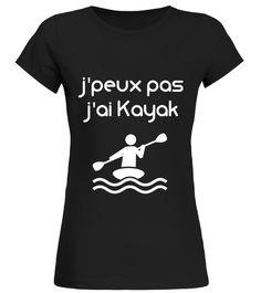 """Un graphisme """"j'peux pas j'ai Kayak""""destiné à toussigné Breizh Design. Une coupe près du corps, un coton de qualité, il a forcément une place dans votre dressing !"""