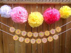Tissue Pom Poms, Happy Birthday Banners, Pink Lemonade, Owl, Crafty, Etsy, Owls, Tissue Poms, Happy Birthday Posters
