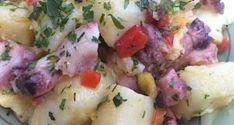 patatosalata me chtapodi Potato Salad, Salads, Potatoes, Ethnic Recipes, Food, Potato, Essen, Meals, Yemek