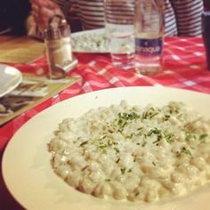 "Have you ever had a chance to taste the typical Slovak ""bryndzove halusky""? Small potato dumplings with sheep cheese and sour cream. Small bacon bits are missing in this image though :) (by redtealeaves)"