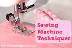 técnicas de la máquina de coser