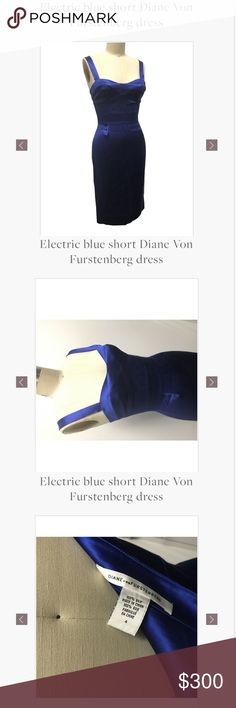 Diane von Furstenburg dress Blue DVF dress Diane Von Furstenberg Dresses