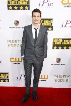 Liam James attends the19th Annual Critics' Choice Movie Awards at Barker Hangar on January 16, 2014 in Santa Monica, California.
