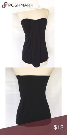 Black Flowy Tube Top Black fancy tube top. Can be dressed up or down. Old Navy Tops Tank Tops