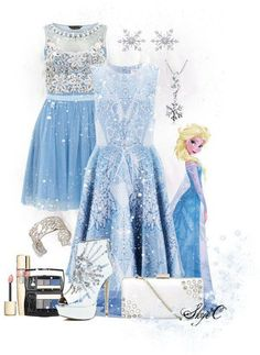 dress elsa cute disney disney clothes frozen blue dress light blue sparkle dress snowflake glitter shoes sparkels jewelry cute dress please yes Frozen Outfits, Disney Themed Outfits, Disney Dresses, Disney Clothes, Frozen Dress, Frozen Inspired Outfits, Estilo Disney, Cute Dresses, Cute Outfits