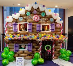 Balloon Gingerbread House