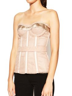 Mesh Ribbon Bustier Top by Dolce & Gabbana