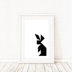 Tangram rabbit poster/print by BlacknBoo on Etsy