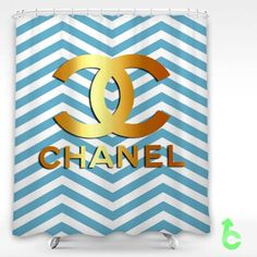 #Chanel #Golden #Logo #Blue #Chevron #Pattern #Shower #Curtain #showercurtain #decorative #bathroom #creative #homedecor #decor #present #giftidea #birthday #men #women #kids #newhot #lowprice #cover #favorite #custom