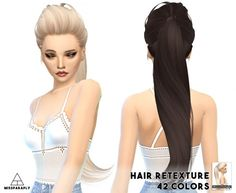 Miss Paraply: Skysims solid hairstyles retextured • Sims 4 Downloads