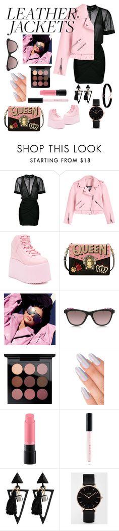 """Pink Crush"" by pepentha ❤ liked on Polyvore featuring Balmain, Y.R.U., Dolce&Gabbana, Oakley, MAC Cosmetics, Huda Beauty, CLUSE and Astrid & Miyu"