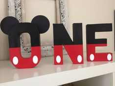 Mickey Mouse ONE letters first birthday decor