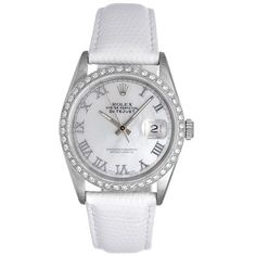 Pre-owned Rolex Datejust 16200 Stainless Steel 36mm Womens Watch ($4,806) ❤ liked on Polyvore featuring jewelry, watches, stainless steel watches, preowned jewelry, stainless steel jewellery, preowned watches and rolex watches
