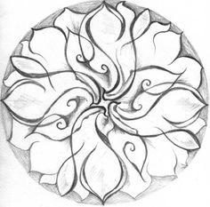 Twisted Lotus Mandala design to ad to my mandala layered sleeve....a very unique twist on a mandala